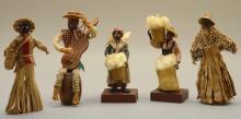 5 Black Figural Souvenir Dolls