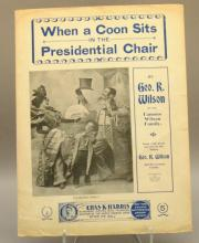 2 items WHEN A COON SITS IN THE PRESIDENTIAL CHAIR