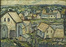 Alfred Gwynne Morang (American, 1901-1958); Untitled; Oil on board (framed); Signed; 11 1/2