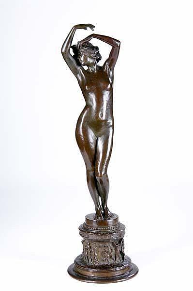 Emil Fuchs (Austrian/American, 1866-1929) Untitled (Phoebus Rediens Fugat Astra); Bronze; Signed