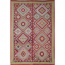 TURKISH WEAVINGS; Three, early 20th c.: Kilim