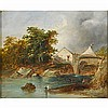 THOMAS CRESWICK (English, 1811-1869); Oil on, Thomas R.A Creswick, $0