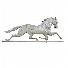 GALLOPING HORSE WEATHERVANE; Hollow copper body