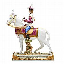 GERMAN PORCELAIN MILITARY FIGURE;
