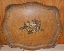 Hand painted Pressed Paper Tray marked Japan