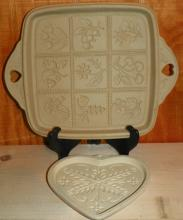 Pair of Pampered Chef Stone Cookie Molds