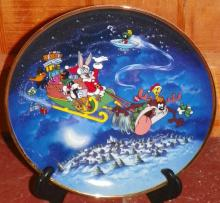 Franklin Mint Limited Edition Plate What's Up Santa