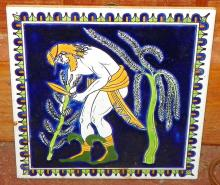 Hand panted Greek Tile by Smaltotechniki