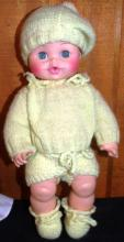 Horsman Rubber Doll #37 with hand crocheted outfit
