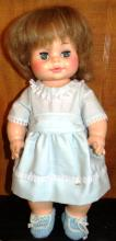 Horsman 1971 Rubber Jointed Doll with Crocheted Booties