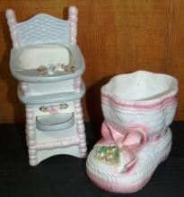 Collection of 2 Ceramic Baby Novelties