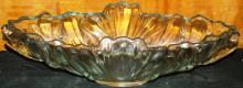 Crystal Console Bowl with Decorative Cherubs