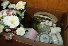 Box Lot Assorted Household Items