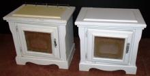 Pair White Painted End Tables