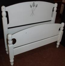 White Painted Wooden Bed