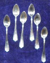 (5) Sterling Silver Sugar Spoons