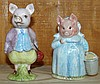 Pair 1956 Beatrix Potter Pig Figurines
