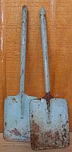 Vintage Metal Toy Sand Shovels Turquoise (2)