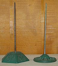 Pair of Vintage Cast Iron Receipt Holders