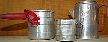 Set of 3 Toy Aluminum Kitchen Toys