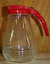 Red Handle Syrup Jar