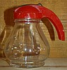Red Handle Syrup Jar