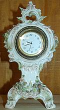 Vintage Porcelain Quartz Encased Clock
