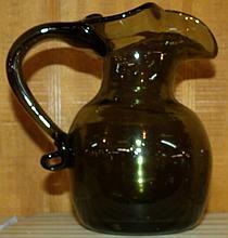 Studio Art Glass Smokey Topaz Pitcher