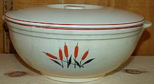 Vintage Covered Sears and Roebuck Casserole, Cattail