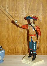 1958 Aroura Scale Pladtic Model Athos-3 Musketeers
