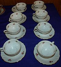 Set of 8 Bavarian Cups and Saucers