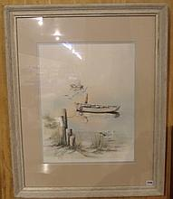 Framed Print Beach Scene 430/1000