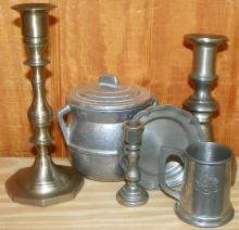 Collection of Pewter & Aluminum