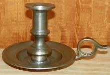 Baister Pewter Finger Candle Stick