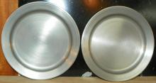 Pair Colonial Pewter Plates