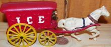 Cast Iron Single Horse Ice Cart
