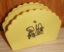 Mid-Century Modern Ceramic Napkin Holder