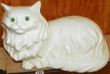 Ceramic White Cat