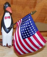 Patriotic Penguin Shelf Figure
