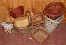 Collection of 12 Miscellaneous Baskets