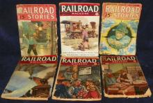 Collection of 6 Railroad Magazines, 1930/40's
