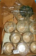Box Lot of Crystal Glasses