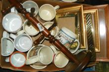 Box Lot Mugs and Frames