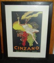 Framed Print - Cinzano Advertising