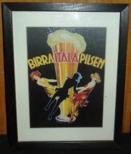 Framed Print - Birraitalapilsen Advertising