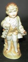 Bisque Figure of Boy in Blue Coat