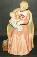 Bisque Figure - Mother w/ Child