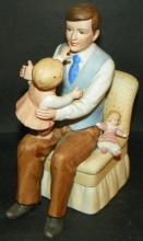 Bisque Figure - Father w/ Child