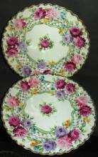 Pair Hand painted Dishes