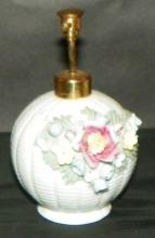 Porcelain Atomizer w/ High Relief Flowers